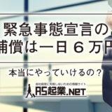 緊急事態宣言発令後の補償は一日6万円ですって!本当にやっていけるの?